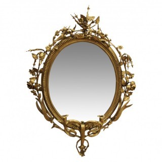 Georgian Gilt Girandole Mirror