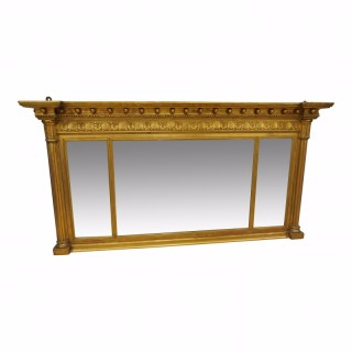 Regency Style Gilt Overmantel Mirror