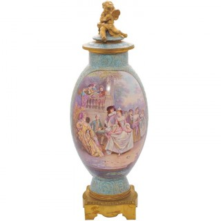 Large 19th Century Sevres vase