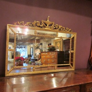 Superb 19th Century Adams Style Gilt Wall Mirror