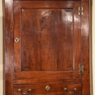 A Solid Yew Wood Corner Cupboard