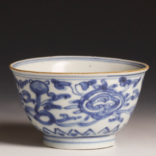 Back Chinese Kangxi Blue and White Bowl