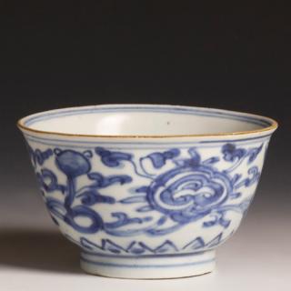 Back Chinese Kangxi Blue and White Bowl
