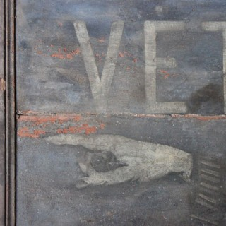A Magnificent 19thC French Period Painted & Signwritten Veterinary Trade Sign for 'R.Dupin Veterinaire' c.1870-90