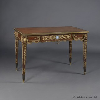Louis XVI Style Kingwood & Parquetry Inlaid Writing Table