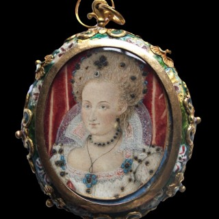 Queen Anne of Denmark, wife of King James I of England (and VI of Scotland) circa 1603