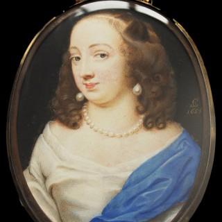 A fine portrait of  The Countess of Gainsborough, believed to be Elizabeth Wriothesley, Viscountess Campden. (d.1680)