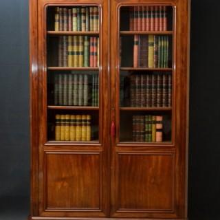 Large 19c French Mahogany Bookcase