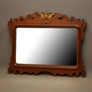 Edwardian Mahogany Horizontal Wall Mirror