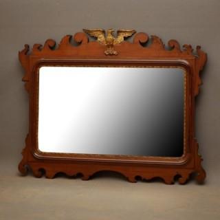 Edwardian Mahogany Horizontal Wall Mirror