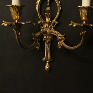 French Set Of 8 Gilded Antique Wall Lights