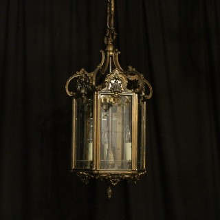 Italian Triple Light Antique Hall Lantern