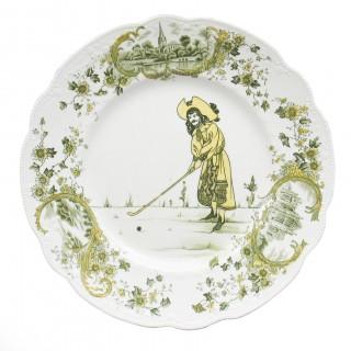 Royal Doulton golfing plate.