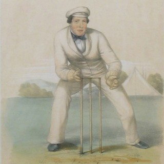 Tom Lockyer, John Wisden, Cricket Print.