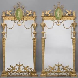 Pair of George III Style Pier Mirrors