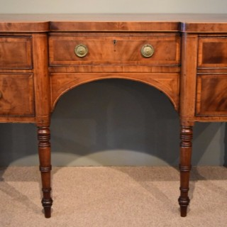 A Good Regency Period Mahogany Breakfront Sideboard