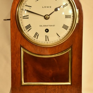 An Early Victorian Mahogany Mantel Timepiece
