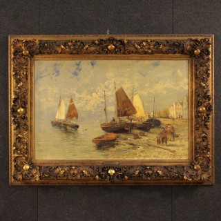 19th Century Dutch Seascape Painting