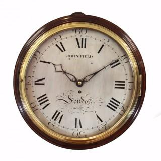 Large George III Verge Dial Clock, John Field of London