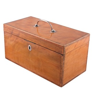 Georgian Satinwood Tea Caddy