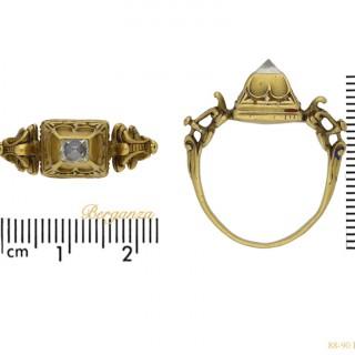 Renaissance diamond ring, circa 16th century.