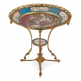Ormolu and Sèvres porcelain Neoclassical antique gueridon