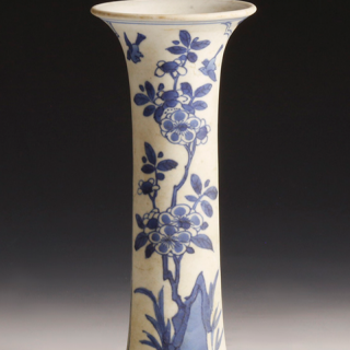 Chinese Kangxi White and Blue Vase