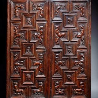 Pair of Carved Renaissance Door Panels