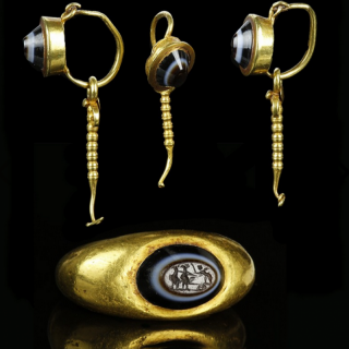 Roman gold jewellery set