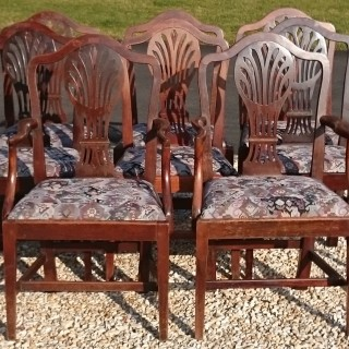 Set of Eight 18th Century George III Period Mahogany Dining Chairs