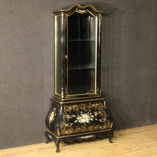 20th Century Spanish Lacquered Display Cabinet