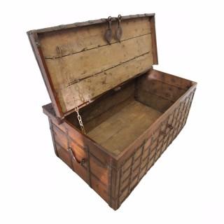 Iron Banded Hardwood Trunk