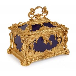 Louis XVI style ormolu mounted KPM porcelain antique casket