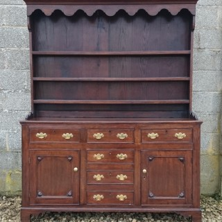 18th Century George III Period Antique Oak Dresser
