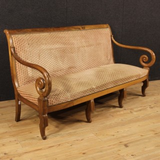 19th Century French Sofa In Restoration Style