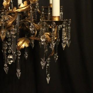 Italian Florentine 9 Light Antique Chandelier