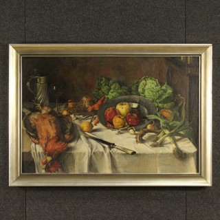 Dutch Still Life Painting Signed And Dated 1920