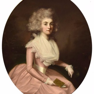 Portrait of a Lady wearing a Pink Dress