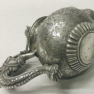 Antique Tibetan Silver Teapot