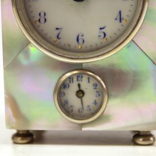 Mother of pearl alarm clock