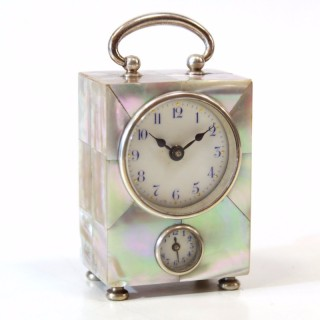 Mother of pearl alarm clock