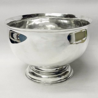 Large George II Silver Bowl by Matthew Lofthouse
