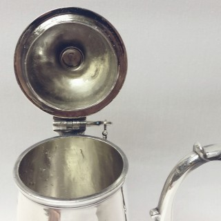 George I Silver Chocolate Pot