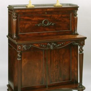 George IV Mahogany Writing Cabinet