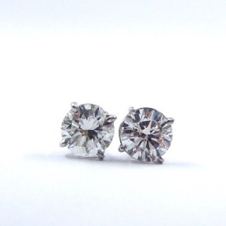 An Important Pair of Diamond Stud Earrings