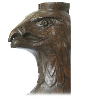 Pair of 19th Century carved wooden griffins