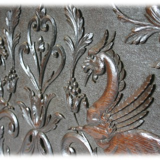 Large 19th Century carved oak panel