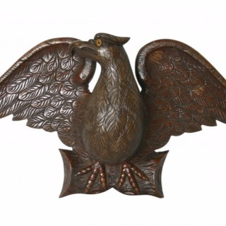 Well Carved 19th Century Wooden Eagle