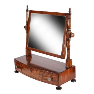 Regency Bow Front Dressing Mirror