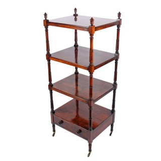 Regency Rosewood Four Tier Whatnot